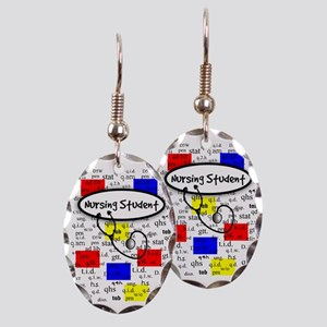 NS 6 Earring Oval Charm