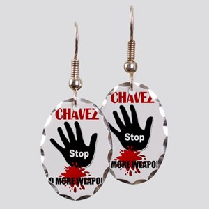 stop Earring Oval Charm