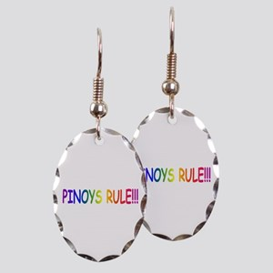 Pinoys Rule Earring Oval Charm