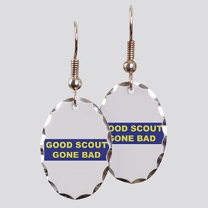 Good Scout Gone Bad (Blue) Earring Oval Charm