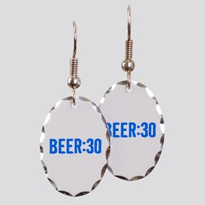 Beer:30 Earring Oval Charm