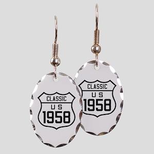 Classic US 1958 Earring Oval Charm