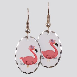 Pink Flamingo Lady Earring