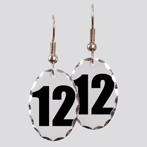 Number 12 Earring Oval Charm