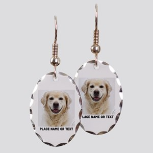 Dog Photo Customized Earring Oval Charm