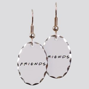 Friends are funny Earring Oval Charm