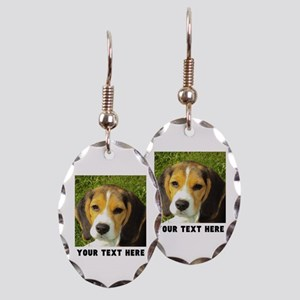 Dog Photo Personalized Earring Oval Charm