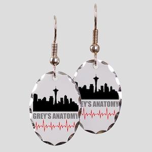 Grey's Anatomy Seatle Earring Oval Charm