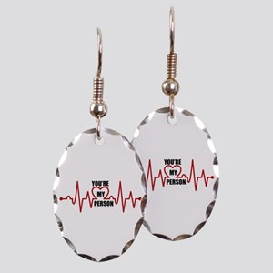 Grey's Anatomy My Person Earring Oval Charm