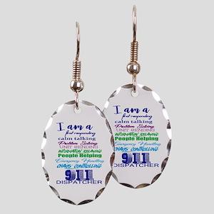911 Dispatch Earring Oval Charm