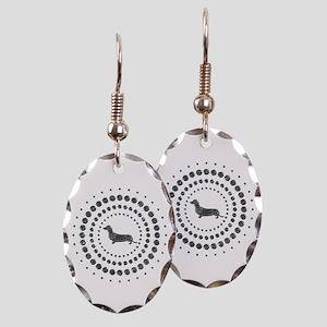 Dachshund Earring Oval Charm