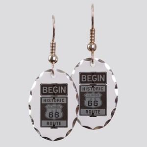 Route 66 Earring Oval Charm