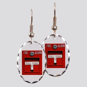 FIRE ALARM Earring Oval Charm