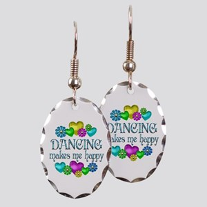 Dancing Happiness Earring Oval Charm