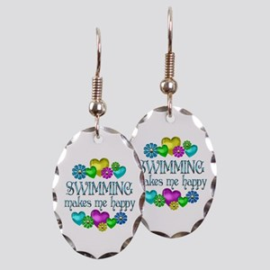 Swimming Happiness Earring Oval Charm