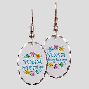 Yoga Smiles Earring Oval Charm