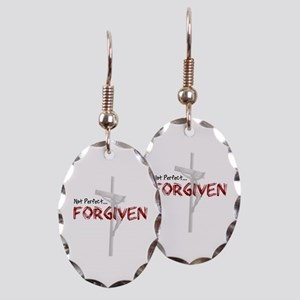 Not Perfect... Forgiven Earring Oval Charm
