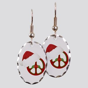 Holiday Peace Designs Earring Oval Charm