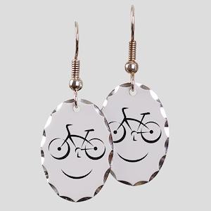 Bike Smile Earring Oval Charm