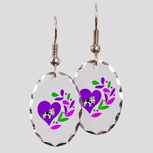 Cow Heart Earring Oval Charm