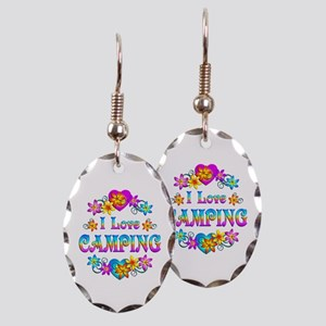 I Love Camping Earring Oval Charm