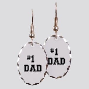 #1 Dad Earring Oval Charm