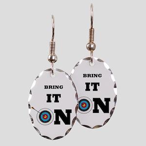 Bring It On Archery Target Earring Oval Charm