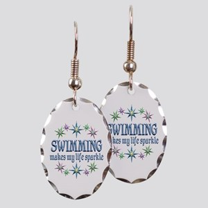 Swimming Sparkles Earring Oval Charm