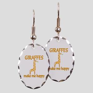 Giraffe Happy Earring Oval Charm