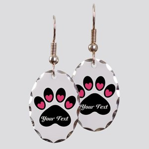 Personalizable Paw Print Earring