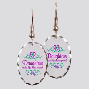 Special Daughter Earring Oval Charm