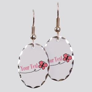 Personalizable Pink Butterfly Earring