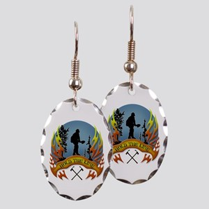 Wildland Firefighter (Hold the Earring Oval Charm