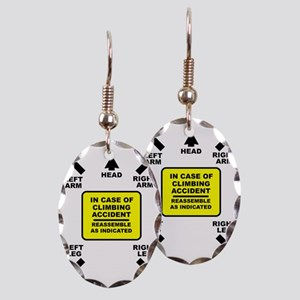 Reassemble Rock Climbing FOR BA Earring Oval Charm