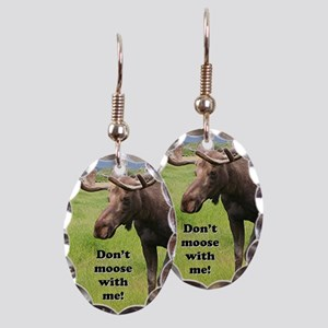 Don't moose with me! 2: Alaskan Earring Oval Charm