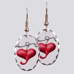 Have A Heart Earring Oval Charm