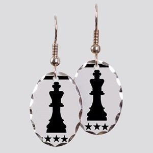 Chess king Earring Oval Charm