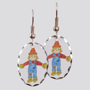 Scarecrow Earring Oval Charm