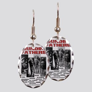 Native American, First Nations  Earring Oval Charm