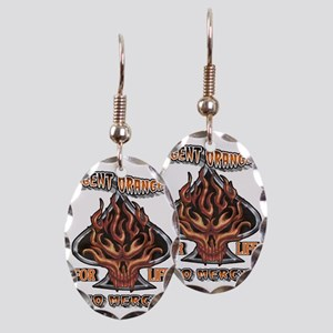 AGENT ORANGE FOR LIFE Earring Oval Charm