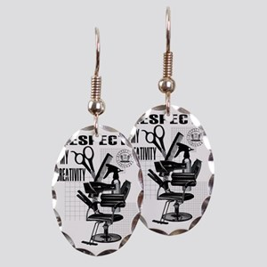 Hair Styling Tools Respect shir Earring Oval Charm