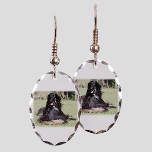 Afghan Hound AA017D-115 Earring Oval Charm