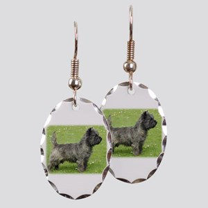 Cairn Terrier 9Y004D-024 Earring Oval Charm