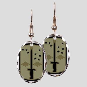 Army-172nd-Stryker-Bde-Black-Sh Earring Oval Charm