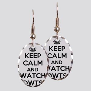 Keep Calm and Watch DWTS Earring Oval Charm
