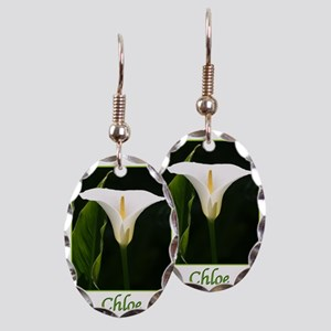 ChloeCalaLily Earring Oval Charm