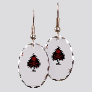 Aces Earring Oval Charm