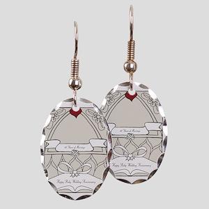 wedding_40_anniversary_print Earring Oval Charm
