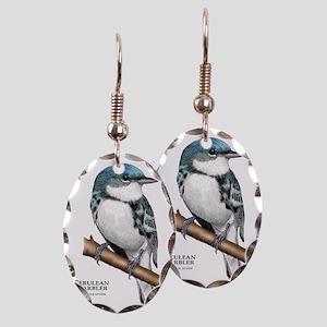 Cerulean Warbler Earring Oval Charm