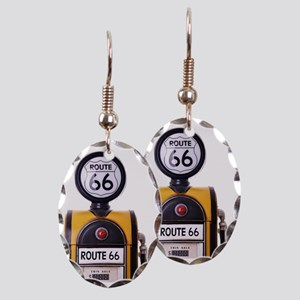 Antique fuel pump Earring Oval Charm